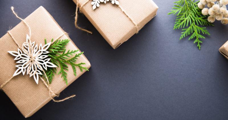 クリスマス クラフト紙 ギフトボックス