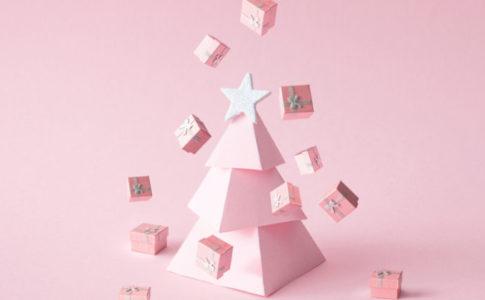 ピンクのクリスマスツリー