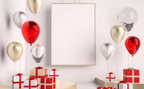 赤 白 クリスマスギフトボックス