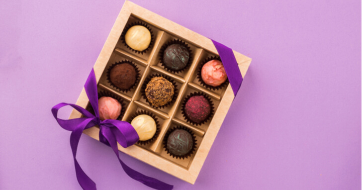甘さに頬がほころぶチョコレートのプレゼント
