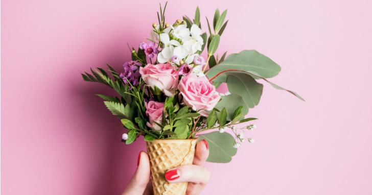 母の日の定番、【花】のプレゼント