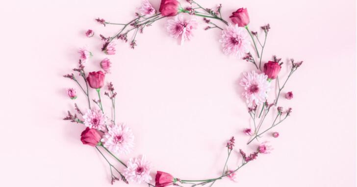 送別会の定番、花のプレゼント